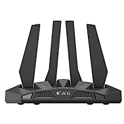 Dual Band Router, JCG AC1200 Wireless 2.4G/300Mbps + 5G/867Mbps Wi-Fi Router with 4 Antennas, 1 USB 2.0 Port (JHR-AC836M)