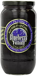 Red Hills Fruit Company Pie Filling, Blueberry, 37.5 Ounce (Pack of 4)
