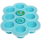 Silicone Baby Food Freezer Tray With Clip-on Lid By WeeSprout - Perfect Storage Container For Homemade Baby Food...