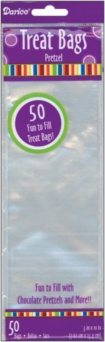 Darice, 50 Piece, 3 Inch by 10 Inch Treat Bag, Packaged
