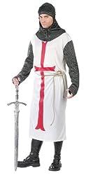 FunWorld Templar Knight, White, One Size Costume