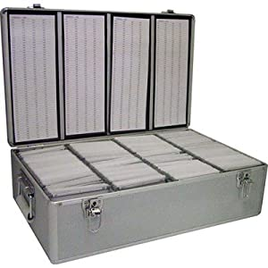 Neo Aluminium Cd Or Dvd Storage Box With Sleeves Holds