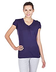Jockey Women's Cotton Payjama Top (1327-0105-CNAVY_S)