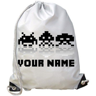 Personalised Kids Space Invader Gym / PE / Swimming Bag