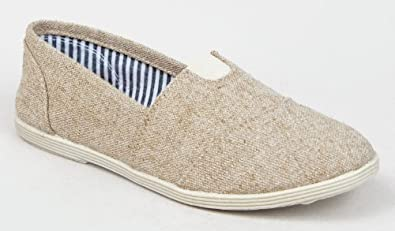 Soda Women Object Flats-Shoes,5.5 B(M) US,Beige Linen