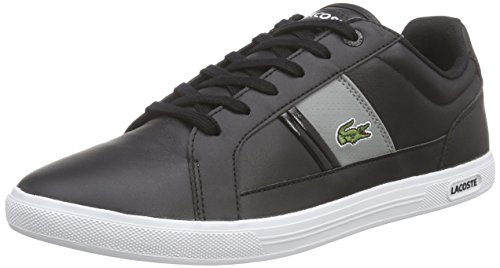 Lacoste Europa LCR3 Uomo Trainers, Black Grey, 42