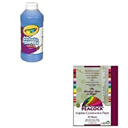 KITCYO543115042PACP9009 - Value Kit - Pacon Peacock Sulphite Construction Paper (PACP9009) and Crayola Artista II Washable Tempera Paint (CYO543115042)