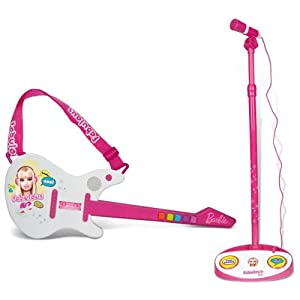 Barbie Electrical Rock Guitar with Microphone a Flat 50% Off from Amazon