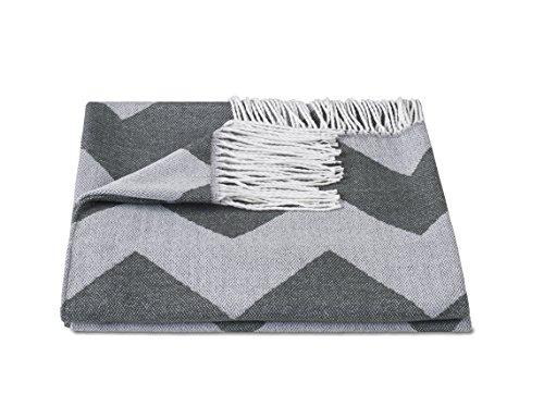 zollner tagesdecke kuscheldecke plaid wolldecke wohndecke mit fransen 130x170 cm. Black Bedroom Furniture Sets. Home Design Ideas