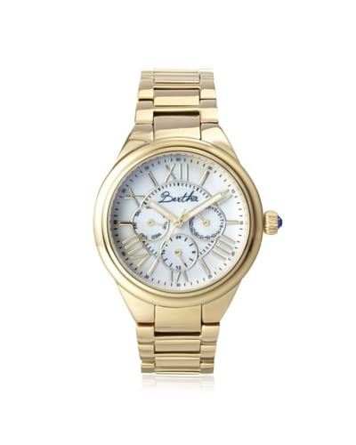 Bertha Women's BR1403 Rachel Gold/White Stainless Steel Watch