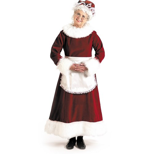 Halco Women's Mrs. Claus Dress Adult Costume