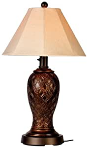Monterey 937 Bronze 34 Inch Table Lamp Antique Linen Shade Table Lamps For Living Room