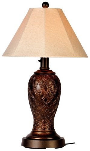 Monterey 937 Bronze 34-Inch Table Lamp Antique Linen Shade
