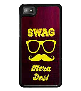 Desi Swag 2D Hard Polycarbonate Designer Back Case Cover for BlackBerry Z10