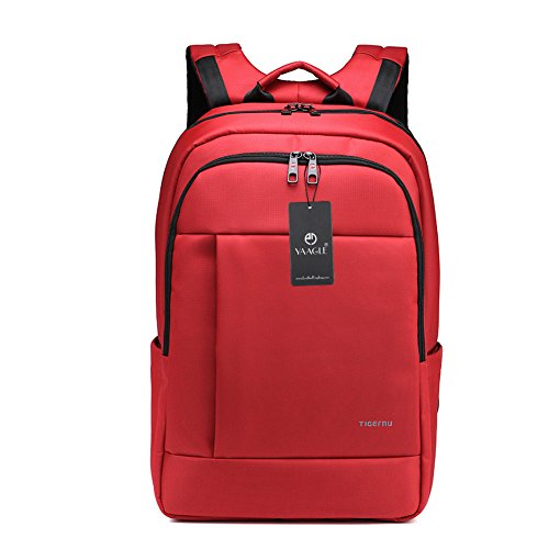 YAAGLE Mens Womens Teenagers Simple Casual Day Pack Business Travel Backpack 17-inch Laptop Backpack Rucksack Schoolbag Red Orange Green Grey