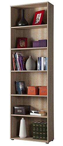 ts-ideen Libreria Mensoliera Sideboard Libri Nero Moderno con Porte 9 Vani