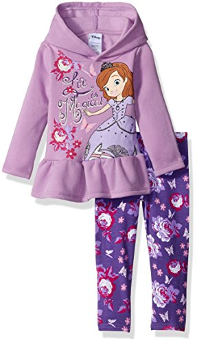 Disney Little Girls' 2 Piece Sofia the First Hooded Top and Legging Set, Purple, 2T (Sofia The First Clothes compare prices)