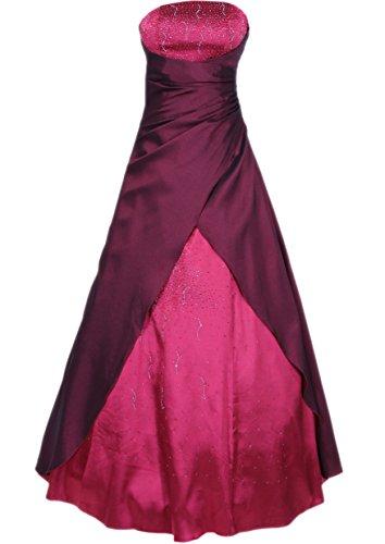 JuJu & Christine Langes Kleid Abendkleid Ballkleid Cocktailkleid (A2007) bordeaux Gr. 54