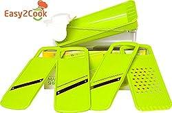 Easy2Cook - Mandoline Slicer - Food Slicer - Cheese Slicer - Vegetable Slicer - Manual Food Processor- Food Safe Plastic - Healthy Meals - Eco Friendly - Ecologically Clean - Eco Safe