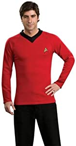 Men'S Costume: Star Trek Classic Red Shirt Large *** Product Description: Aye, Aye Captain! You Can Look Just Like Your Favorite Starfleet Engineer In Your Official Star Trek Classic Deluxe Red Shirt With Emblem Pin. Fits Adult Size Large. ***