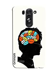 Omnam Braing Running Activities Printed Designer Back Cover Case For LG G3 Beat