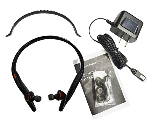 Motorola S11-Hd Black Bluetooth Stereo Headset With Flex Band [Non Retail Packaging]