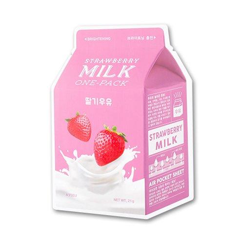 a pieu milk one pack gesichtsmaske mit milch extrakt und hydrolysierten kollagen f r die. Black Bedroom Furniture Sets. Home Design Ideas