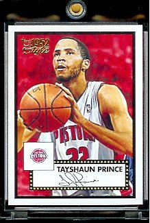 2005 06 Topps Style '52 Tayshaun Prince Detroit Pistons Basketball Card #74 - Mint Condition - In Protective Display Case !! - Buy 2005 06 Topps Style '52 Tayshaun Prince Detroit Pistons Basketball Card #74 - Mint Condition - In Protective Display Case !! - Purchase 2005 06 Topps Style '52 Tayshaun Prince Detroit Pistons Basketball Card #74 - Mint Condition - In Protective Display Case !! (Upper Deck, Toys & Games,Categories,Games,Card Games,Collectible Trading Card Games)