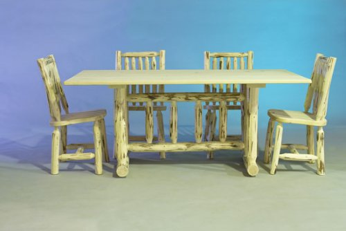 Log Furniture - Dining Table-Varnished - Free