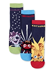 3 Pairs of Moshi Monsters Socks