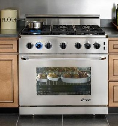 Dacor Epicure 36 In. Stainless Steel Freestanding Gas Range - ER36GSCHLP