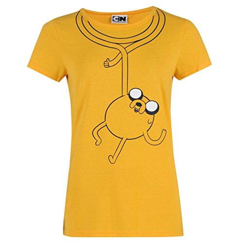 Hora-De-Aventuras-Camiseta-Mujer-Amarillo-Character-Top-T-Camisa