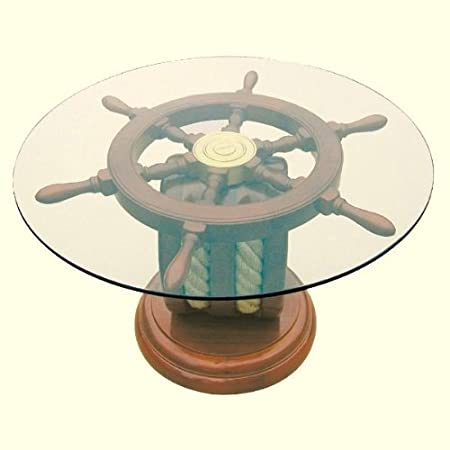 Ping marítimas - auxiliar las Art - madera y cristal diámetro 65 cm