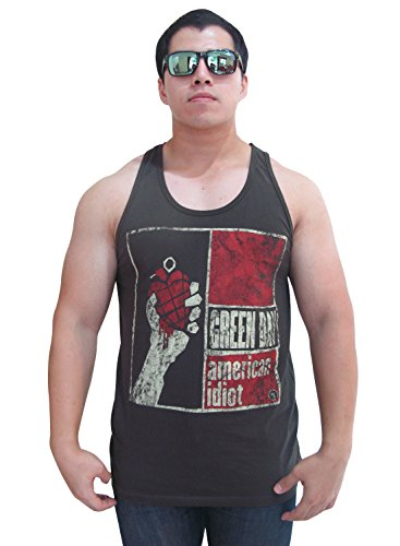 Bunny Brand Men's Green Day American ldiot Tour T-Shirt Tank Top Vest
