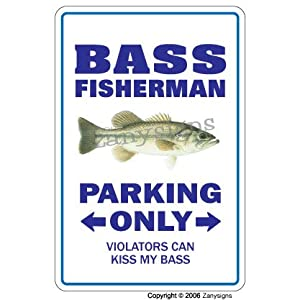 BASS FISHERMAN ~Sign~ bass fishing fisher fish gift