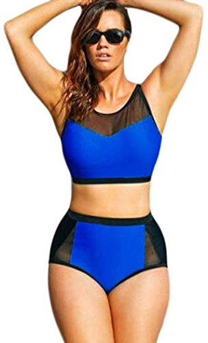 Yonas Women's Indigo Scuba Swimsuit Plus Size Sexy Bikini(SIZE XXXL)