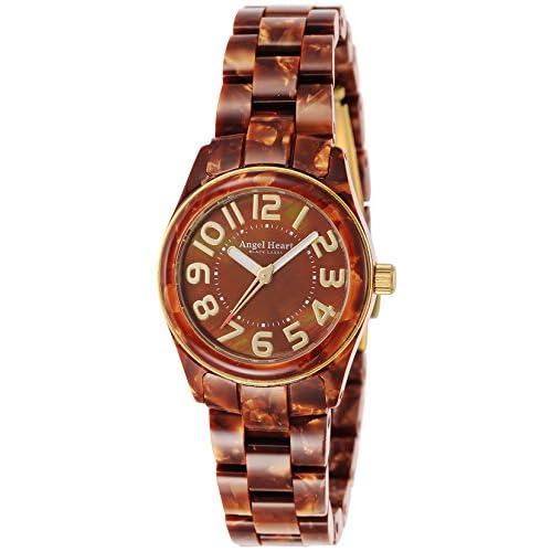 [エンジェルハート]Angel Heart 腕時計 ブラックレーベル ブラウン文字盤 アセテートケース アセテートベルト BK28AGD レディース