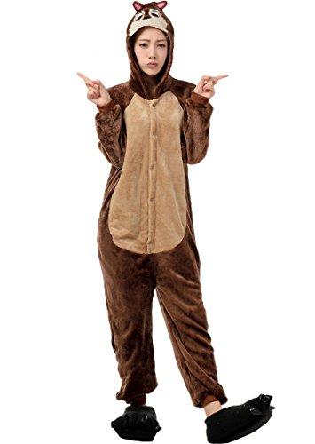 Molly Pigiama Unisex Adulto Flanella Costume Animale Pigiama M Squirrel Fratello