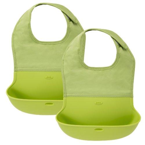 OXO Tot Roll Up Bib, 2 Pack - Green