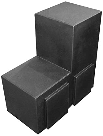 "Forte 8002164 U-Link Merchandiser, 12"" L x 24"" W x 24"" H, Black (Case of 2)"
