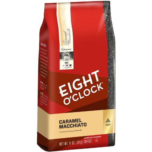 Eight O'Clock Caramel Macchiato Ground Coffee, 11 Ounce
