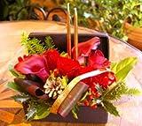 おまかせフラワーアレンジメント【クリスマスアレンジ(クリスマスレッド)】 5,250円