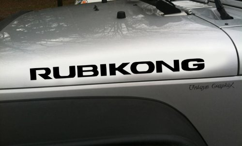 Jeep Wrangler Rubikong Vinyl Hood Decal 1 Pair