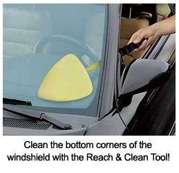 Invisible Glass Reach and Clean Tool and Microfiber Cloths Bundle