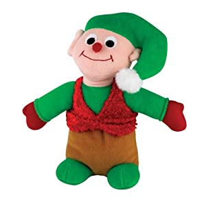 Zanies Plush Holiday Friend Elf Dog Toy, 11-Inch