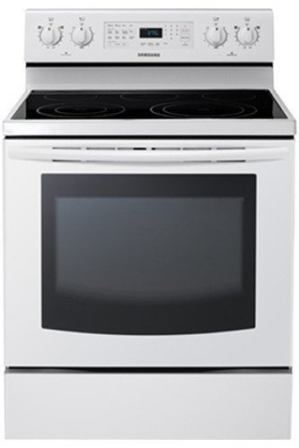 "Samsung Ne595R0Abww 30"" White Electric Smoothtop Range - Convection"