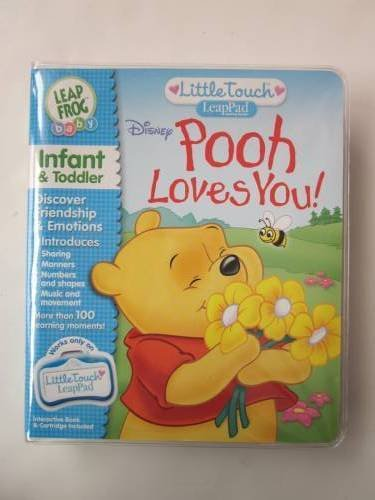 Disney Pooh Loves You! Leap Frog Baby Cartidge Gold front-1073038