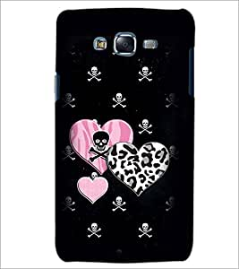 PrintDhaba Heart with Skull D-1966 Back Case Cover for SAMSUNG GALAXY J5 (Multi-Coloured)
