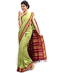 Sudarsahan Silks South Karantaka Span Cotton Silk Saree - B00LUMH1SQ