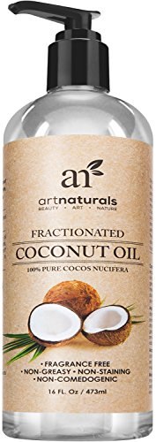 Art Naturals® Fractionated Coconut Oil 16 oz 100% Natural & Pure - Best Carrier / Massage Oil